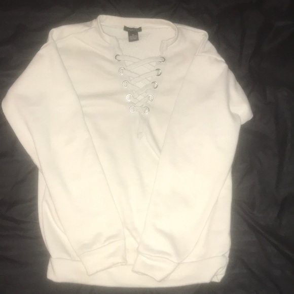 Rue21 Tops - Rue 21 lace up sweater